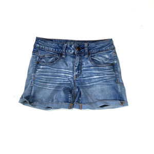 American Eagle Midi Super Stretch Jean Shorts Sz 2